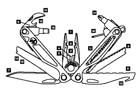 Leatherman Charge AL Diagram