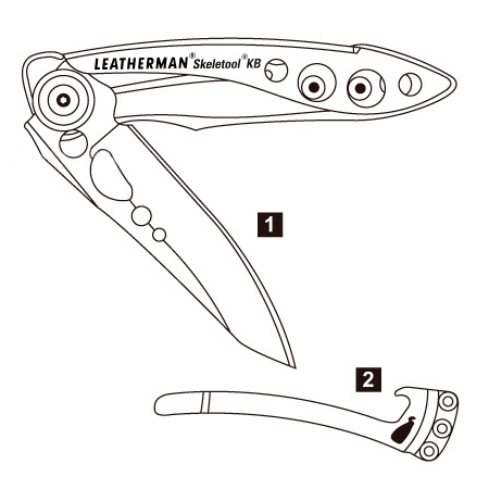 Leatherman Skeletool KB Diagram