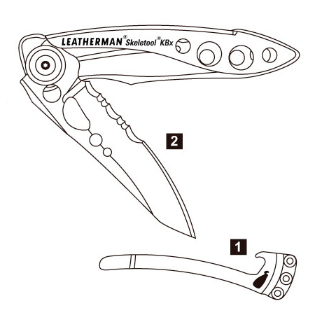 Leatherman Skeletool KBx Diagram